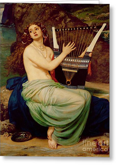 Then Greeting Cards - The Siren Greeting Card by Sir Edward John Poynter