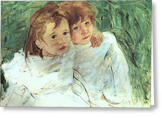 The Sisters Greeting Card by Cassatt