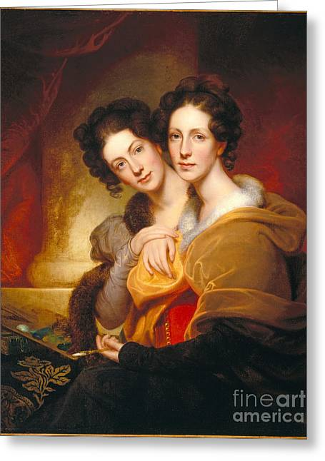 Peale Greeting Cards - The Sisters Greeting Card by Celestial Images