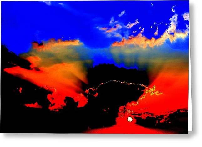 The Sun God Greeting Cards - The Sky is Alive Greeting Card by Art Speakman