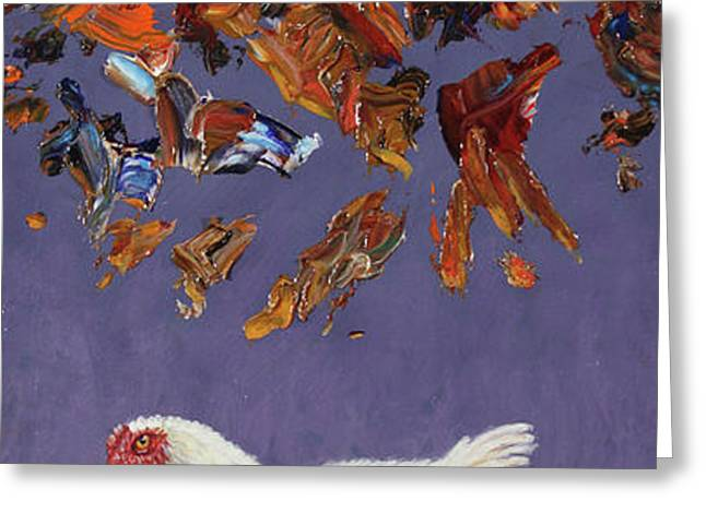 The sky IS falling Greeting Card by James W Johnson