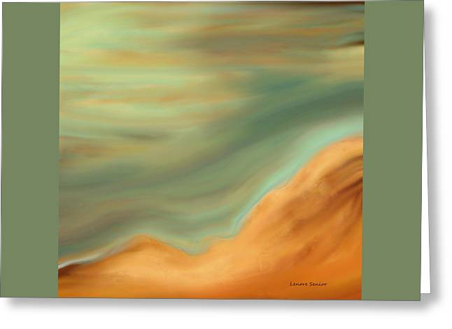 Beige Abstract Greeting Cards - The Sky Greeting Card by Lenore Senior