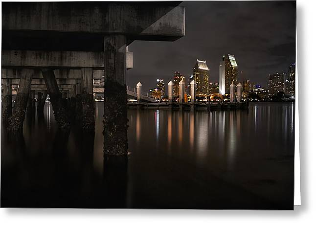 Sd Greeting Cards - The Skyline of San Diego Greeting Card by Sean Foster