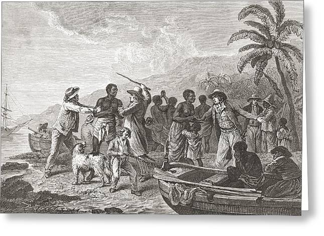 Enslave Greeting Cards - The Slave Trade By George Morland. From Greeting Card by Ken Welsh