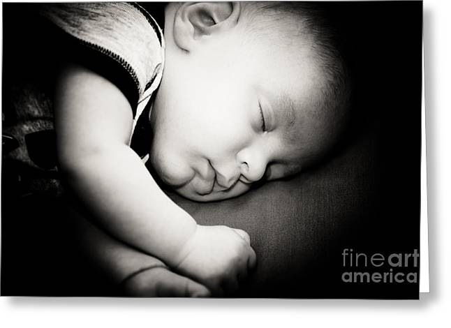 Childcare Greeting Cards - The sleep Greeting Card by Gabriela Insuratelu