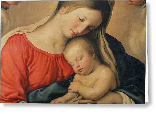 The Sleeping Christ Child Greeting Card by Il Sassoferrato