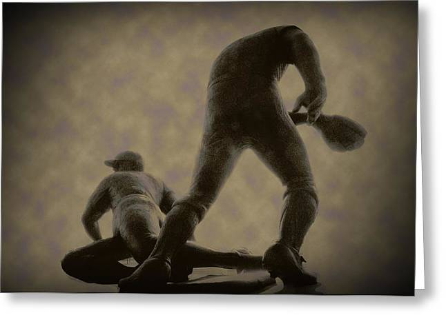 The Slide - Kick Up Some Dust Greeting Card by Bill Cannon