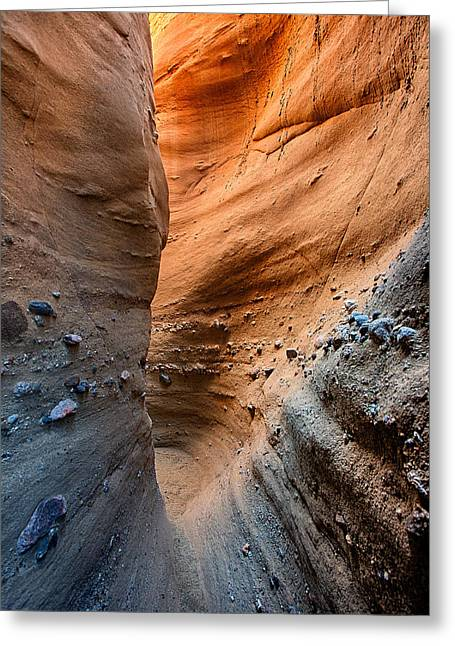 Narrow Canyons Greeting Cards - The Slot Greeting Card by Peter Tellone