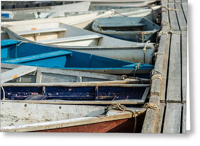 Docked Boats Greeting Cards - The Small Fleet Greeting Card by Joseph Smith