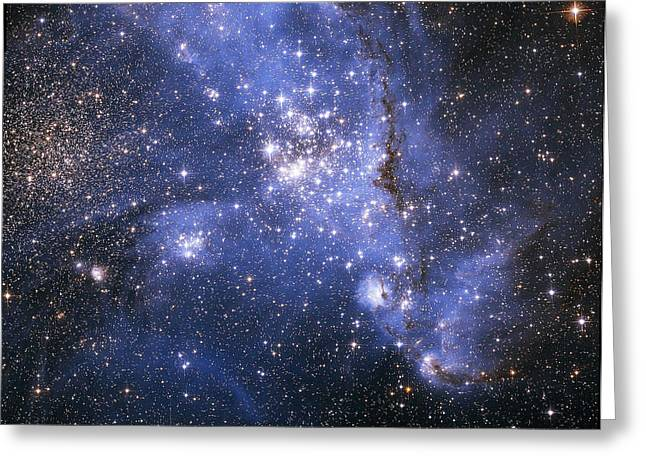 Magellanic Greeting Cards - The Small Magellanic Cloud Greeting Card by Stocktrek Images