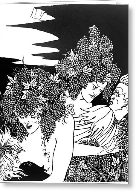 The Snare Of Vintage Greeting Card by Aubrey Beardsley