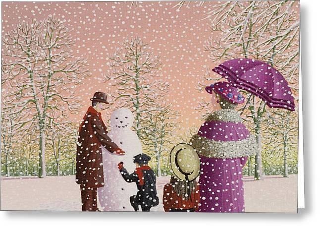 The Snowman Greeting Card by Peter Szumowski