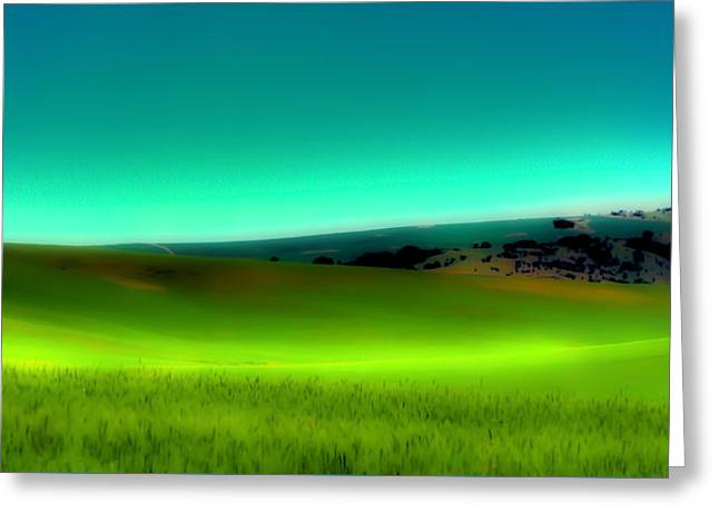 The Soft Rolling Hills Of The Palouse Greeting Card by David Patterson