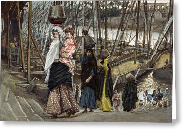 Water Jug Greeting Cards - The Sojourn Greeting Card by Tissot