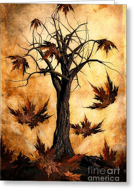 Color Change Greeting Cards - The song of Autumn Greeting Card by John Edwards