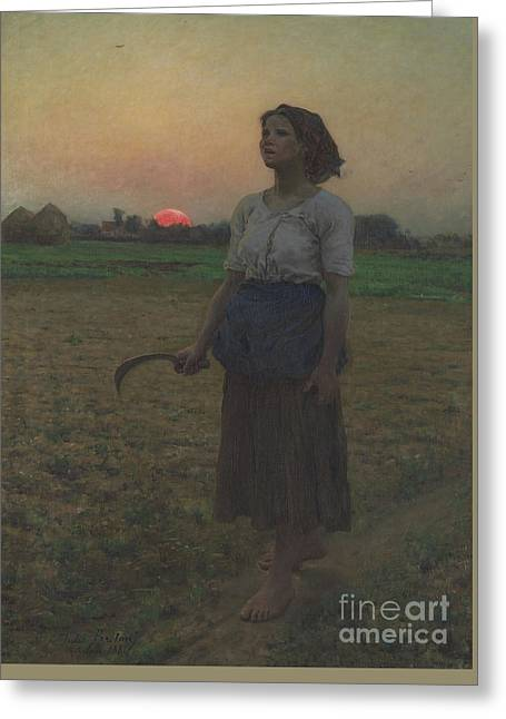 The Song Of The Lark Greeting Card by Jules Breton