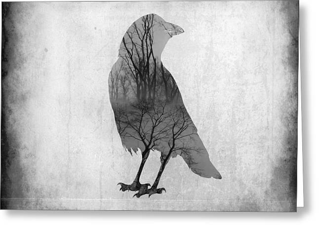 Quirky Greeting Cards - The Soul Of Crow Greeting Card by Gothicolors Donna Snyder