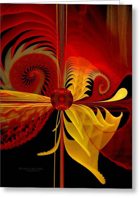 Recently Sold -  - Abstract Digital Pastels Greeting Cards - The Soul Sees What is Within Greeting Card by Gayle Odsather