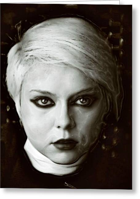 Portrait Of Evil Greeting Cards - The Soul Greeting Card by Wendy Martinez