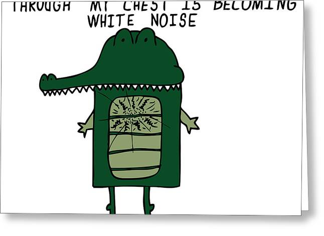 Color Green Drawings Greeting Cards - The Sound Of My Heart Beating - Color Greeting Card by Karl Addison