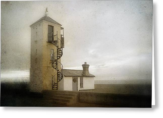 Aldeburgh Greeting Cards - The South Lookout Greeting Card by Steve Sharp
