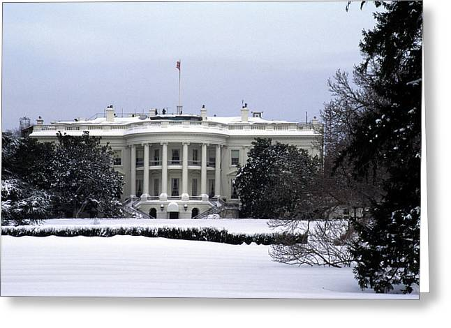 The South View Of The White House Greeting Card by Stacy Gold