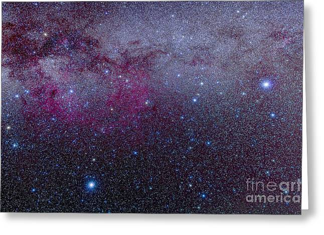 Double Cluster Greeting Cards - The Southern Milky Way Greeting Card by Alan Dyer