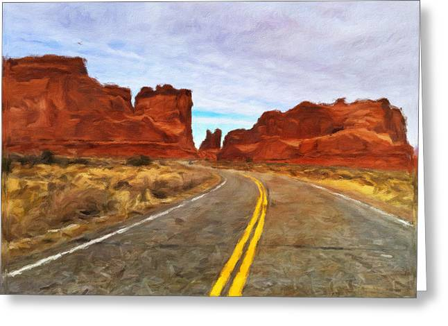 Winter Storm Greeting Cards - The Southwest Greeting Card by Jonathan Nguyen