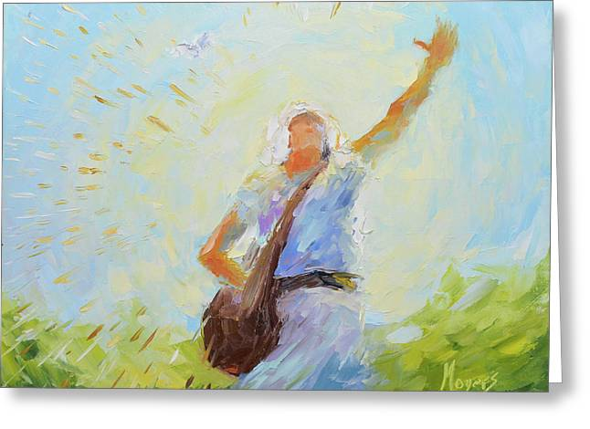 The Sower Greeting Card by Mike Moyers