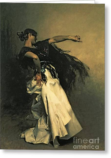 The Spanish Dancer Greeting Card by John Singer Sargent