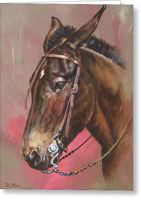 Mia Delode Greeting Cards - The Spanish Mule Greeting Card by Mia DeLode