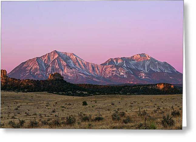 The Spanish Peaks Greeting Card by Aaron Spong