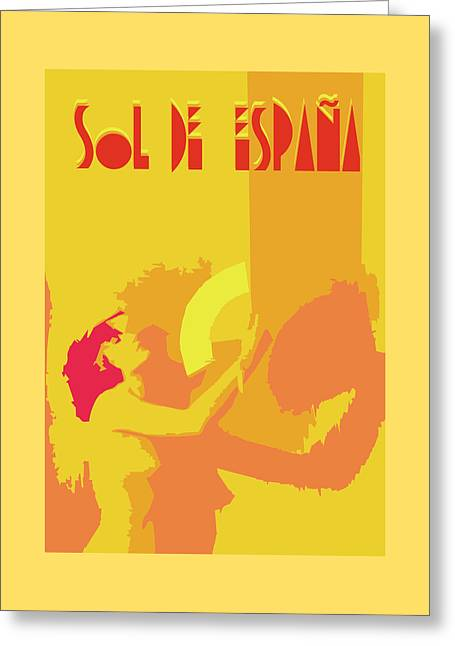 Recently Sold -  - Abstract Digital Drawings Greeting Cards - The Spanish sun  Greeting Card by Joaquin Abella