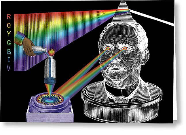 Chromatic Greeting Cards - The Spectre of Chromatopia Greeting Card by Eric Edelman