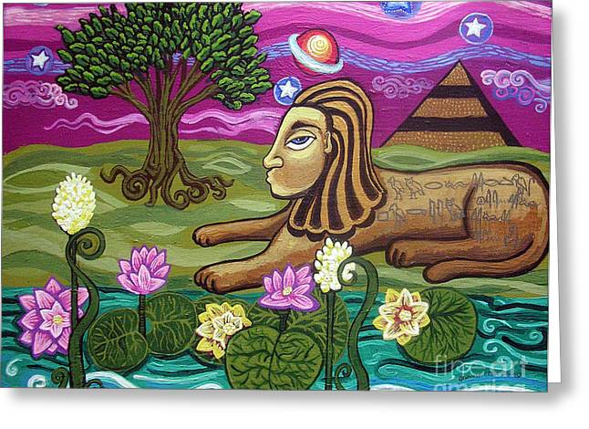 Lily Pad Greeting Cards Greeting Cards - The Sphinx Greeting Card by Genevieve Esson