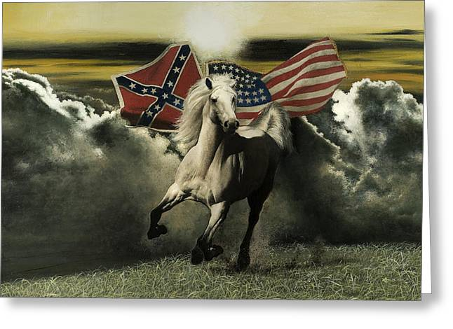Recently Sold -  - Confederate Flag Greeting Cards - The Spirit Endures Greeting Card by Ron Lesser