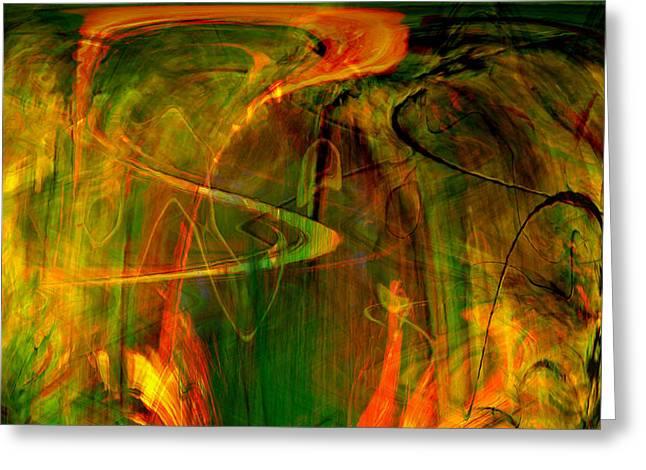 The spirit glows Greeting Card by Linda Sannuti
