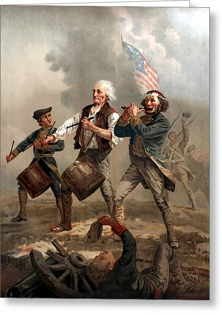 American Flags Greeting Cards - The Spirit of 76 Greeting Card by War Is Hell Store
