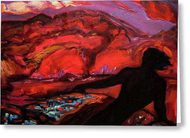 The Spirit Of The Volcano Greeting Card by Aleksei Gorbenko