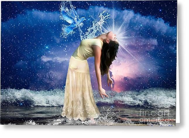 The Spirit Of Truth Greeting Card by Dolores Develde