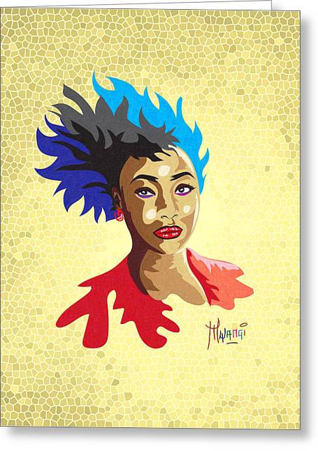 Youthful Greeting Cards - The Spirit of Youth Greeting Card by Anthony Mwangi