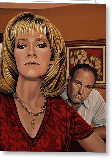 The Sopranos Painting Greeting Card by Paul Meijering