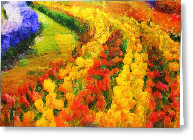 D.w. Paintings Greeting Cards - The Spring Valley - Painting  Greeting Card by Sir Josef  Putsche Social Critic