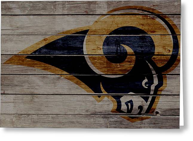 The St Louis Rams 2w Greeting Card by Brian Reaves