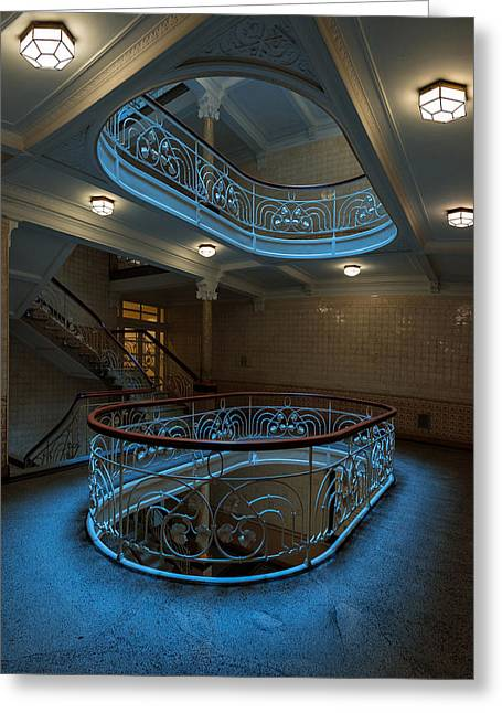 Staircase Greeting Cards - The Staircase I (v2) Greeting Card by Harry Lieber