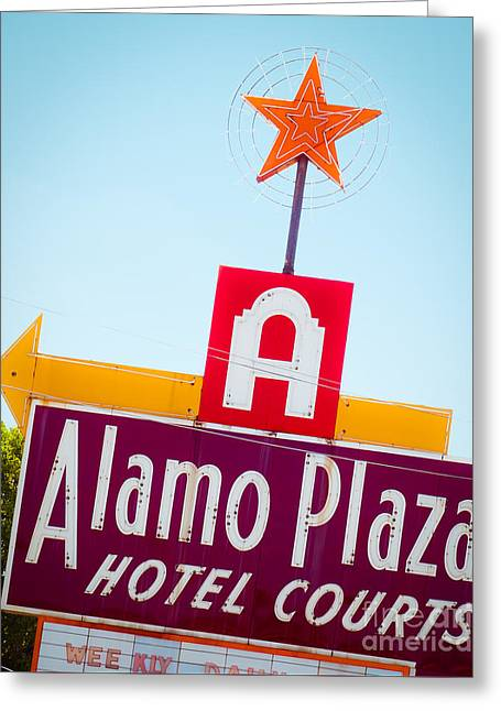 Star Greeting Cards - The Star of Alamo Plaza Greeting Card by Sonja Quintero