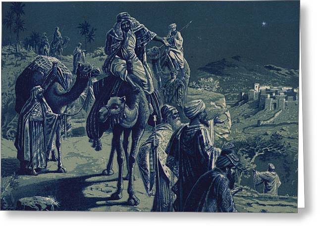 The Star Of Bethlehem Greeting Card by English School