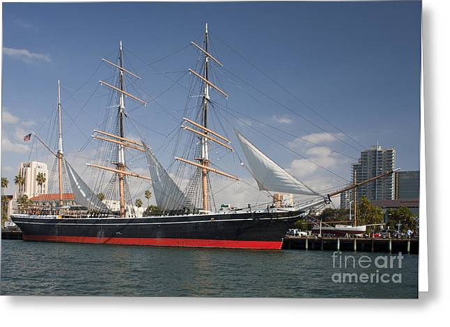 Images Of San Diego Greeting Cards - The Star Of India Is The Worlds Oldest Greeting Card by Michael Wood
