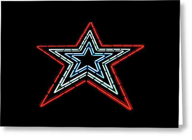 4th July Greeting Cards - The Star of The Star City Greeting Card by Rolln Home