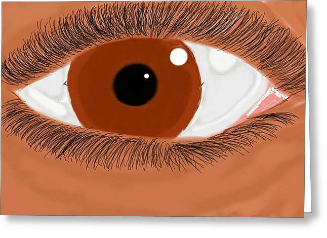 Eyelash Greeting Cards - The Stare Greeting Card by Ivan Tee